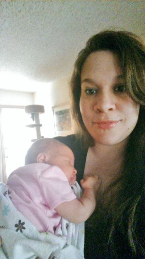 Lila and Mommy at 2 weeks